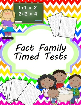 Addition Fact Family Timed Tests