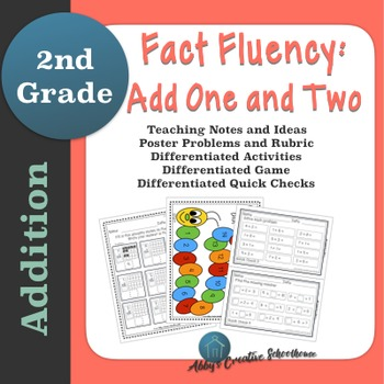 Addition Fact Fluency: Add One and Two Activities, Assessm