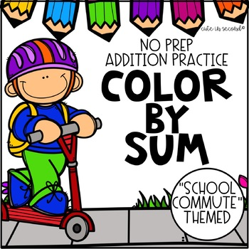 Addition Fact Fluency Practice Color by Sum