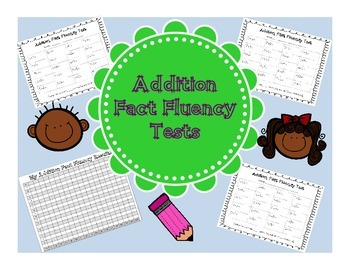 Addition Fact Fluency Tests