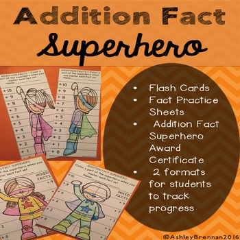 Addition Fact Superhero: Fact tracking system with flash c