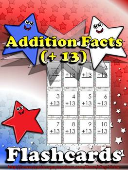 Addition Facts (+ 13) Flashcards - King Virtue