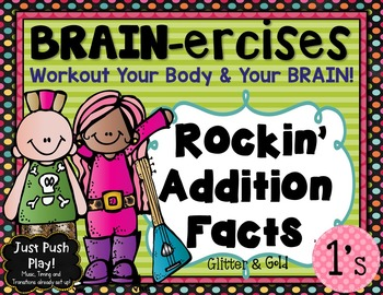 Addition Facts BRAIN-ercises Plus 1: Dance and Learn Addit