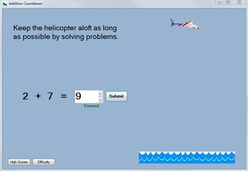 Addition Game: Addition-Fact Practice Computer Game--Addit