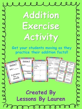 Addition Facts Fluency Exercise Activity/Task Cards