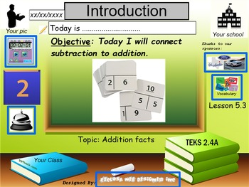 Addition Facts Strategies: Connect Subtraction to Addition