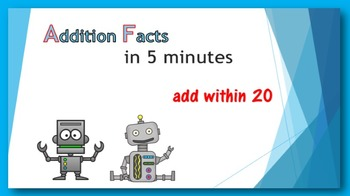 Addition Facts in Five Minutes - add within 20