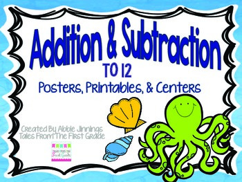 Addition and Subtraction Facts to 12 Centers, Printables,
