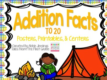 Addition Facts to 20- Centers, Printables, and Posters