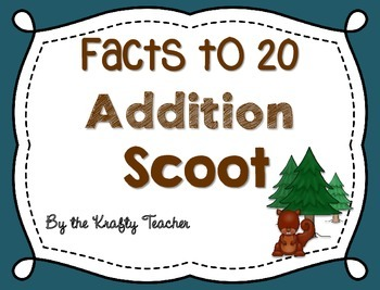 Addition Facts to 20 Scoot, Adding, Kindergarten, First, I