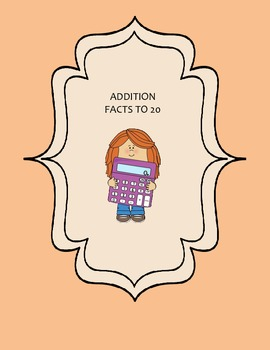 Addition Facts to 20 Write-On/Wipe-Off Booklet