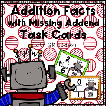 Addition Facts with Missing Addend Task Cards