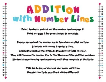 Addition Facts with Number Lines