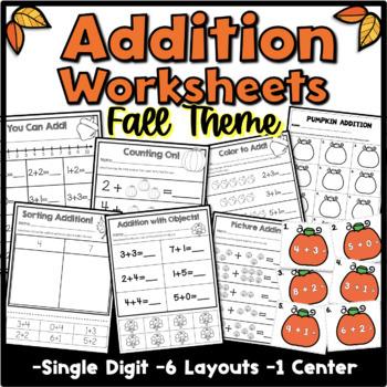 Addition Fall Theme {Kindergarten}