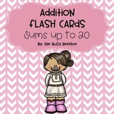 Addition Flash Cards: Sums up to 20