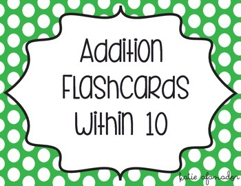 Addition Flashcards to Ten