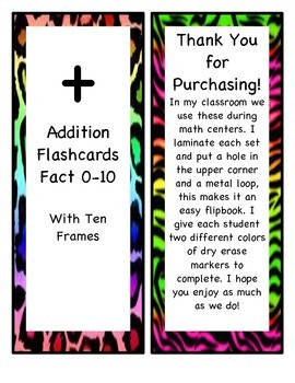 Addition Flip Books 0-10 with Ten Frames