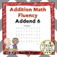 Addition Fluency: Addend 6 Addition Worksheets