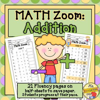 Addition Fact Fluency*