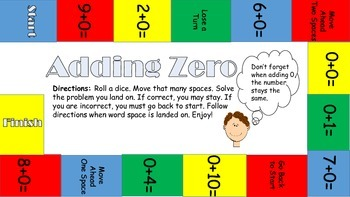 Addition Fluency Packet Zero, One, and Two