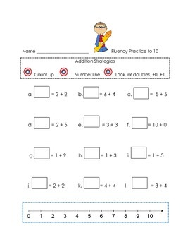 Addition Fluency Practice Sheets
