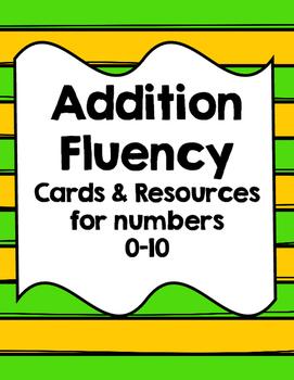 Addition Fluency Set 0-10