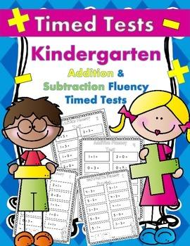 Addition/Subtraction Fluency Timed Tests for Kindergarten