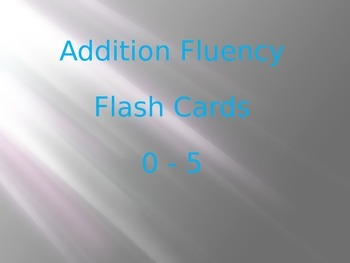 Addition Fluency to 5