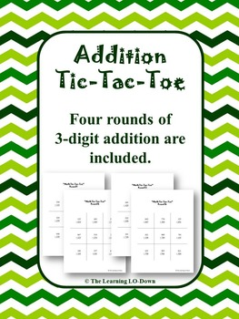 Addition Game: 3 digit addition tic-tac-toe