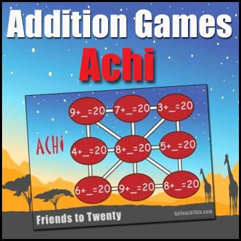 Addition Game: {Achi} - Addition Fact Practice Game to Dev