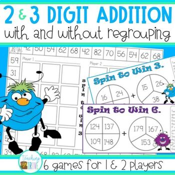 Addition Games with regrouping
