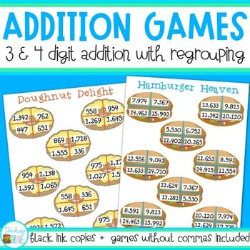 Three and Four Digit Numbers with Regrouping by Teaching Trove ...