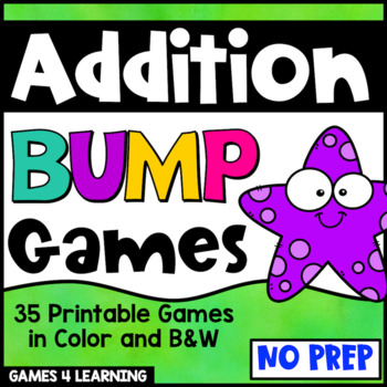Addition Games 35 Addition Facts Bump Games