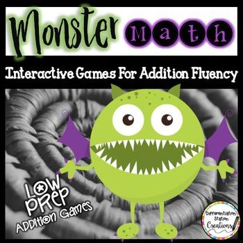 Addition Games: Monster Math