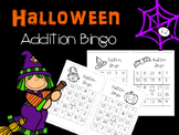 Addition Halloween Bingo