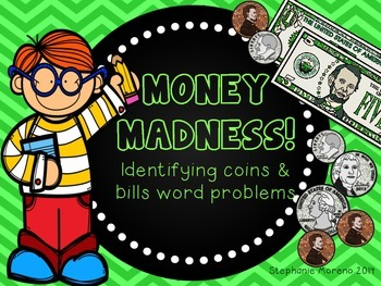 Addition & Identifying Money Madness Task Cards Scoot
