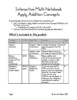Addition Interactive Math Notebook