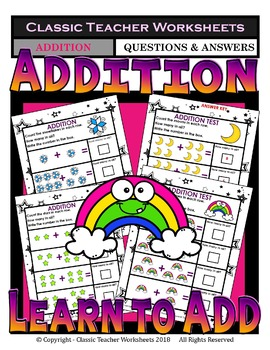 Addition-Add & Write the Total Number of Objects Kindergar