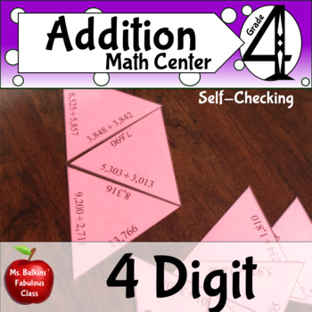 Four digit Addition Math Station