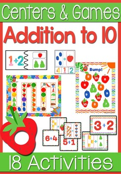 Addition Math Centers & Activities: Adding up to 10 Caterp