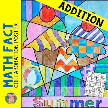 Summer Math Activity - Addition Review Collaborative Poster