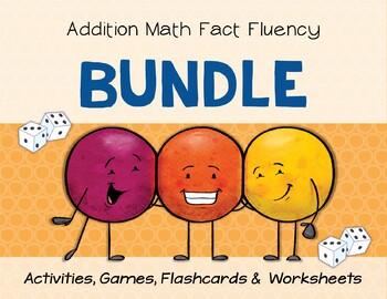 Addition Math Fact Fluency: BUNDLE