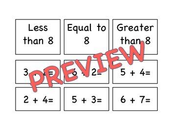 Addition Math Fact Sort