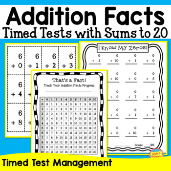 Addition Math Facts -- Flash Cards, Tracking Page, Timed T