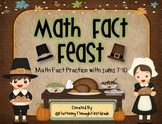 "Addition Math Facts Game- ""Math Fact Feast"""