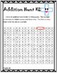 Addition Math Facts Hunt