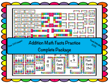 Addition Math Facts Practice-Complete Set
