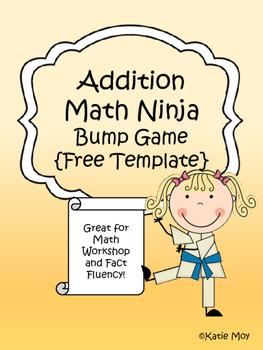 Addition Math Ninja Bump {FREE TEMPLATE}