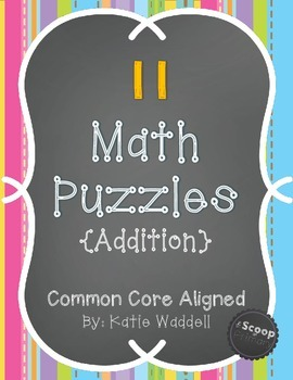 Addition Math Puzzles {Numbers 10-20}