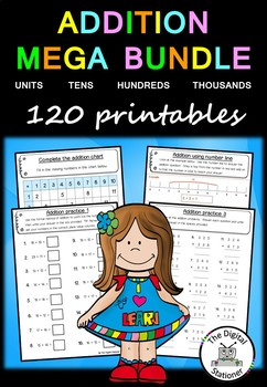 Addition MEGA Bundle – 120+ worksheets/printables